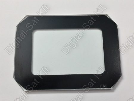30W LED reflektor front üveg  fekete kerettel