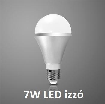 E27 LED 7W izzó 550 Lumen hideg fehér 1 év garancia