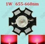 1W Power LED mélyvörös, deep red 655-660nm növényekhez is