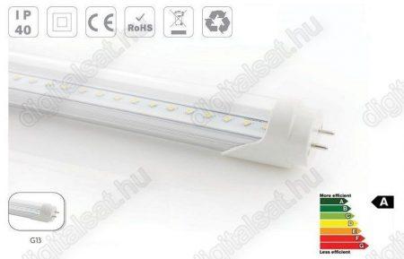 LED fénycső T8 120cm 18W meleg fehér átlátszó