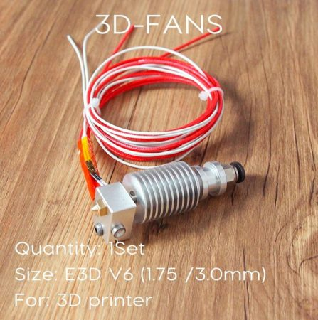 Hotend V6 J-head,  0.4 mm -es fúvókával