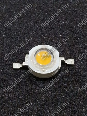 1W Power LED 6000K120- 130 Lumen hideg fehér 1 év garancia