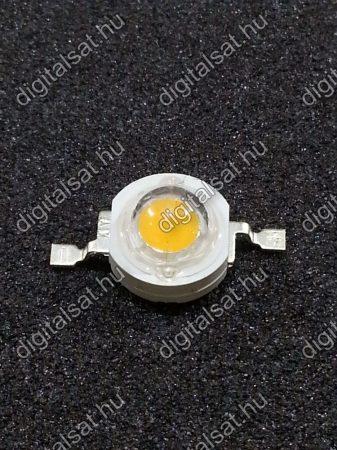 1W Power LED 6000K 130 Lumen hideg fehér 2 év garancia