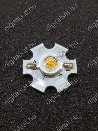 1W Power LED 6000K hűtőcsillagra szerelve 130 Lumen hideg fehér 1 év garancia