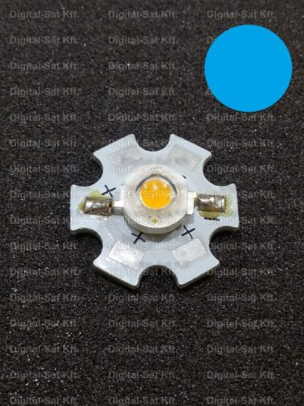 1W Power LED Kék 460-470nm hűtőcsillagon