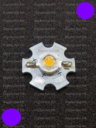 1W Power LED lila 110 Lumen 2100-2200K hűtőcsillagon