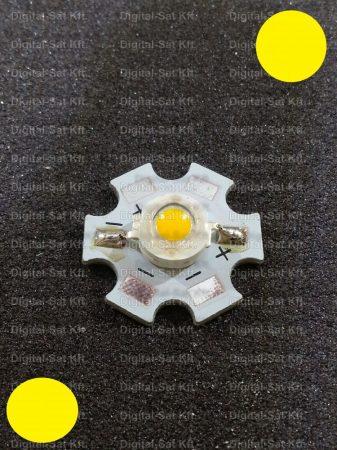 1W Power LED sárga 110 Lumen 1900-2000K hűtőcsillagon
