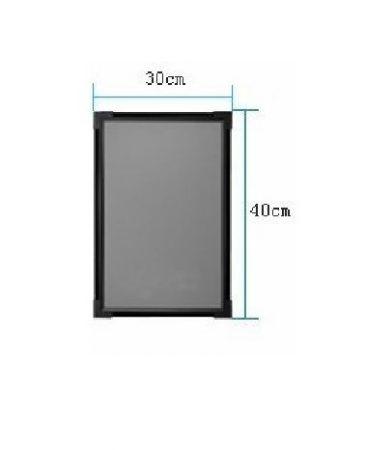 Írható világító LED tábla, 30X40 cm, fekete, üveg előlappal