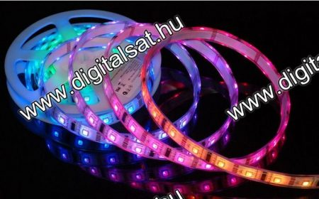 3528 RGB LED szalag 1 cm 60 LED/m IP20