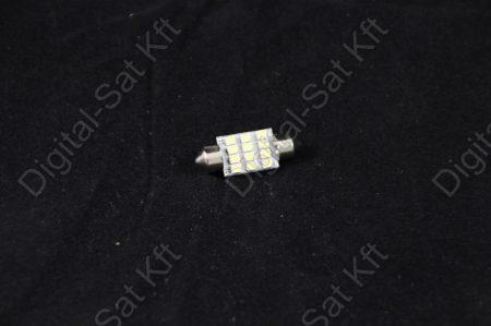 LED izzó 12V Szofita 36mm 12 smd 1210 jégfehér 6500K