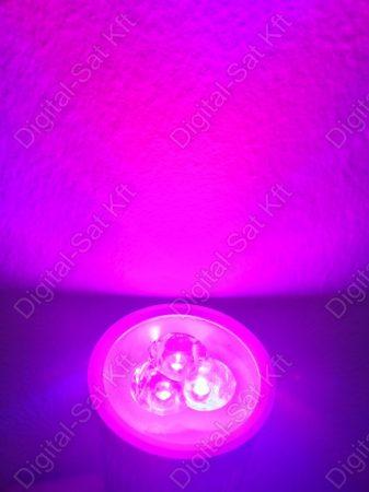 FULL  SPEKTRUM GU10 LED spot 3W izzó növényekhez, palántához 400nm-840nm