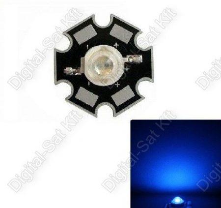 3W Power LED királyKék, royal blue 440-445nm növényekhez is