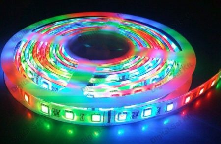 5050 RGB LED szalag 1 cm 60 LED/m IP20