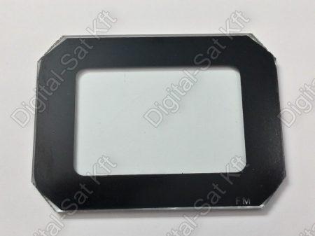 50W LED reflektor front üveg  fekete kerettel