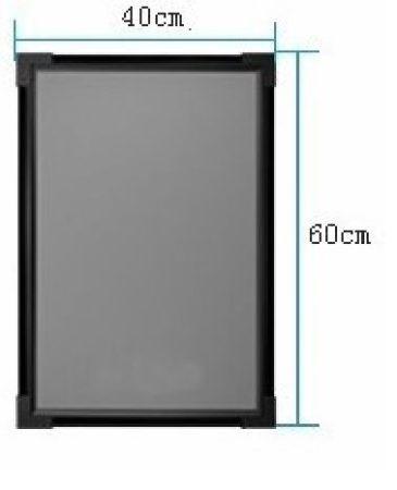 Írható világító LED tábla, 60X40 cm, fekete, plexi előlappal