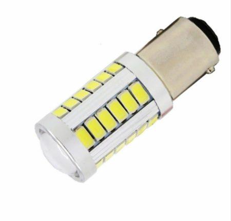 Autós LED izzó BA15S 5630 33 smd LED JÉG fehér!