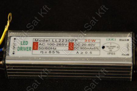 COB LED tápegység 30W LED-hez, 30W LED reflektor-hoz DC 20-40V 900mA