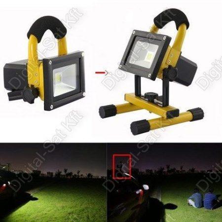 10W Hordozható, vízálló akkumulátoros LED reflektor