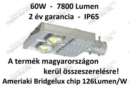 60W utcai LED lámpa 7600 Lumen IP65 2 ÉV garancia MAGYAR TERMÉK
