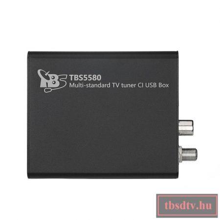 DVB-S2 / S / S2X / T / T2 / C / C2 single tuner, CI-vel, USB Multituner , TBS-5580