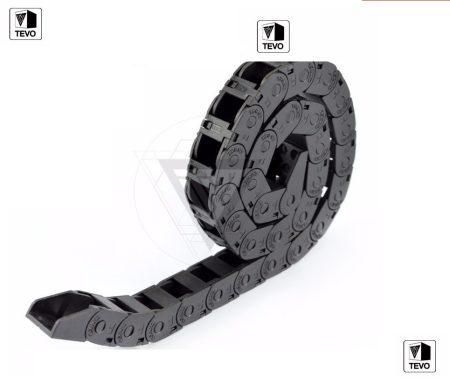 Kábel gyűjtő műanyag lánc egység, Kábelhúzó lánc, 1m 10x10mm, 3D nyomtatóhoz