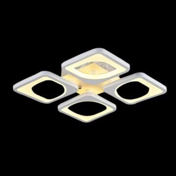 Design LED csillár Royal Pearl 4 tagú szögletes 32W