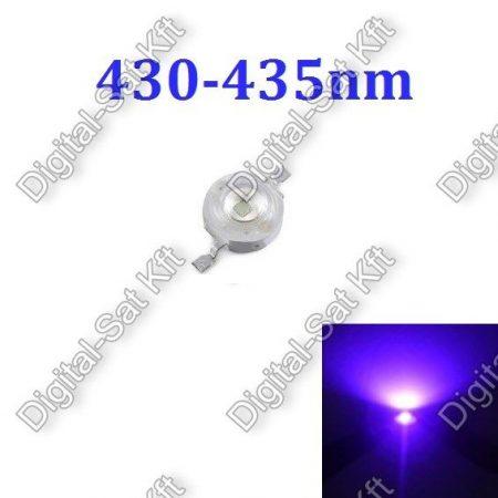 1W Power LED Kék, 430-435nm, növényekhez,akváriumhoz is