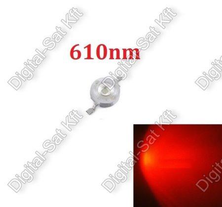 3W Power LED piros, 610nm, növényekhez,akváriumhoz is