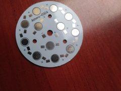 PCB-Alumínium hűtőlap 12 db POWER LED-hez