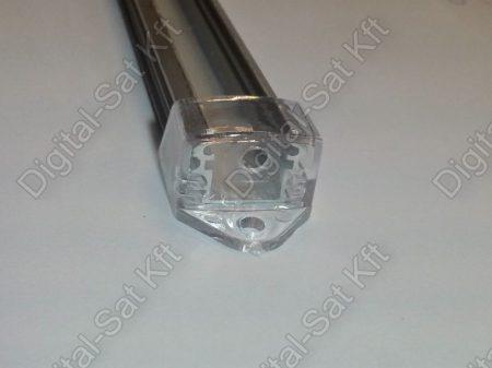 Alumínium, alu profil, sín, LED szalaghoz, eloxált, szögletes, 1 méter 8mm,10mm szalaghoz