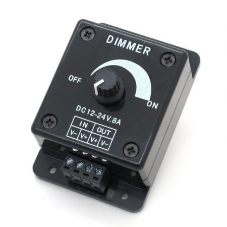 LED szalag dimmer potméteres 8A 96W fényerőszabályzó