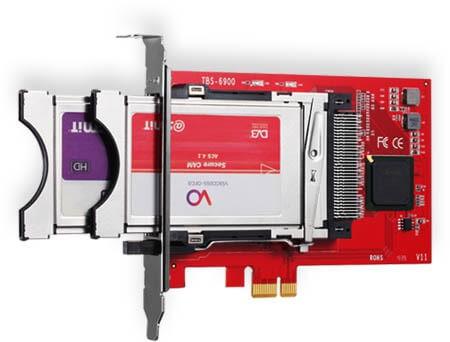 TBS6900 DVB kettős CI PCI-E kártya