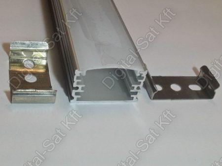 Alumínium, alu profil, sín, LED szalaghoz, eloxált, szögletes, 1 méter 10mm,20mm szalaghoz