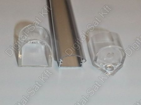 Alumínium, alu profil, sín, LED szalaghoz, eloxált, szögletes, 1 méter 8mm,10mm LED szalaghoz