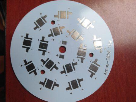 PCB-Alumínium hűtőlap 15 db POWER LED-hez