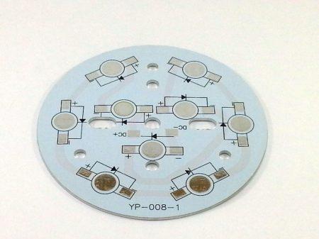 PCB-Alumínium hűtőlap 9 db POWER LED-hez
