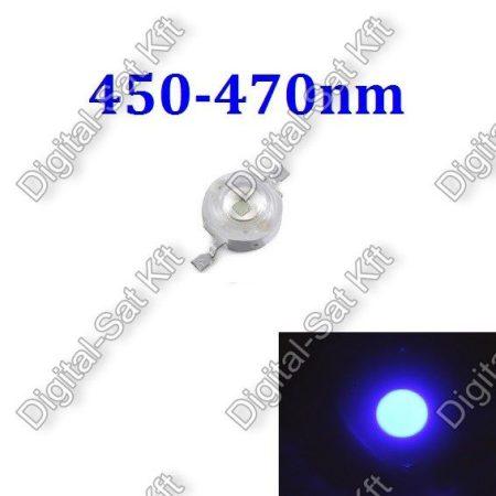 3W Power LED Kék, 450nm-470nm,KÉK, növényekhez,akváriumhoz is