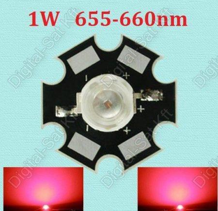 1W LED mélyvörös,deep red