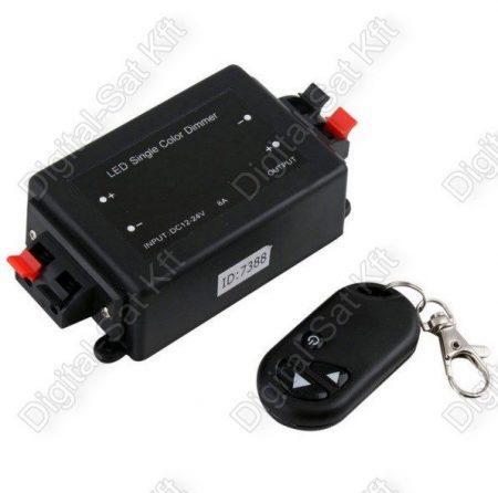 LED szalag dimmer 3528,5050,5630 3 gombos 10A 120W/192W fényerőszabályzó távirányító
