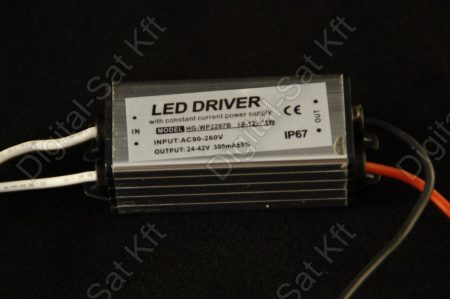 POWER LED tápegység 10W-os LED reflektor-hoz, 10W LED-hez DC 24-42V