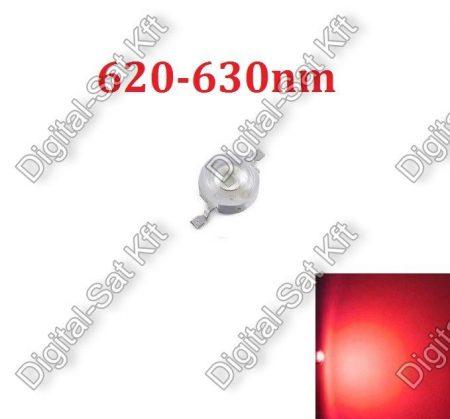 3W Power LED piros, 620nm-630nm, növényekhez,akváriumhoz is