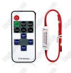 Mini LED szalag vezérlő dimmer 3528,5050,5630 3 gombos 12A 144W/288W fényerőszabályzó távirányító