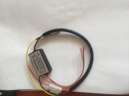 LED menetfény auto on-off relé, időzített automatikus ki-be kapcsoló 12V