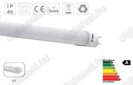 LED fénycső T8 60cm 9W meleg fehér opál búrás