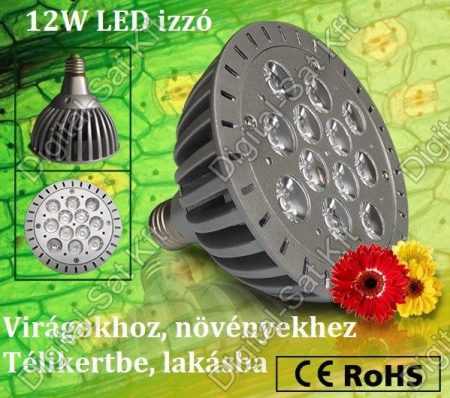 LuxEria Vega 12W LED lámpa PAR38 E27 FULL SPEKTRUM 400-840nm