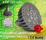 LED növény nevelő virág lámpa izzó 10W E27 380nm-730nm FULL Spectrum
