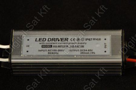 POWER LED tápegység 18-24 darab 1W-os LED-hez DC 54-85V