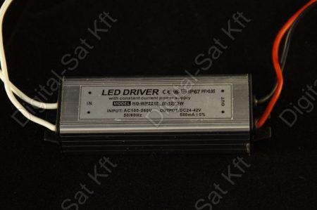 POWER LED tápegység 8-12 darab 3W-os LED-hez DC 24-42V