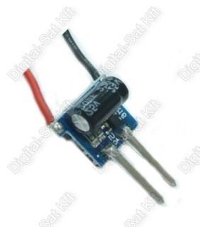 POWER LED tápegység, áramgenerátor 1-3 darab 1W-os LED-hez AC-DC12V