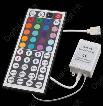 RGB led szalag vezérlő  44 gombos infra érzékelős, távirnyítós